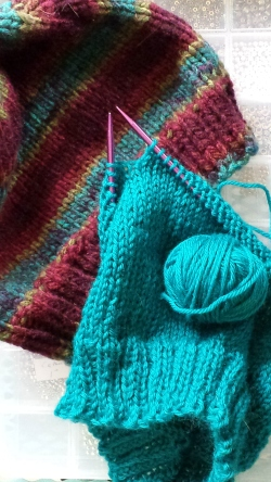 knitting closeup